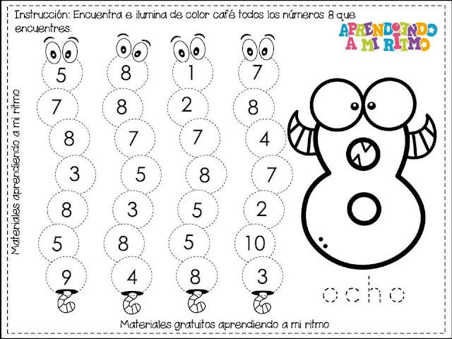 fichas-trabajar-aprender-numeros-preescolar