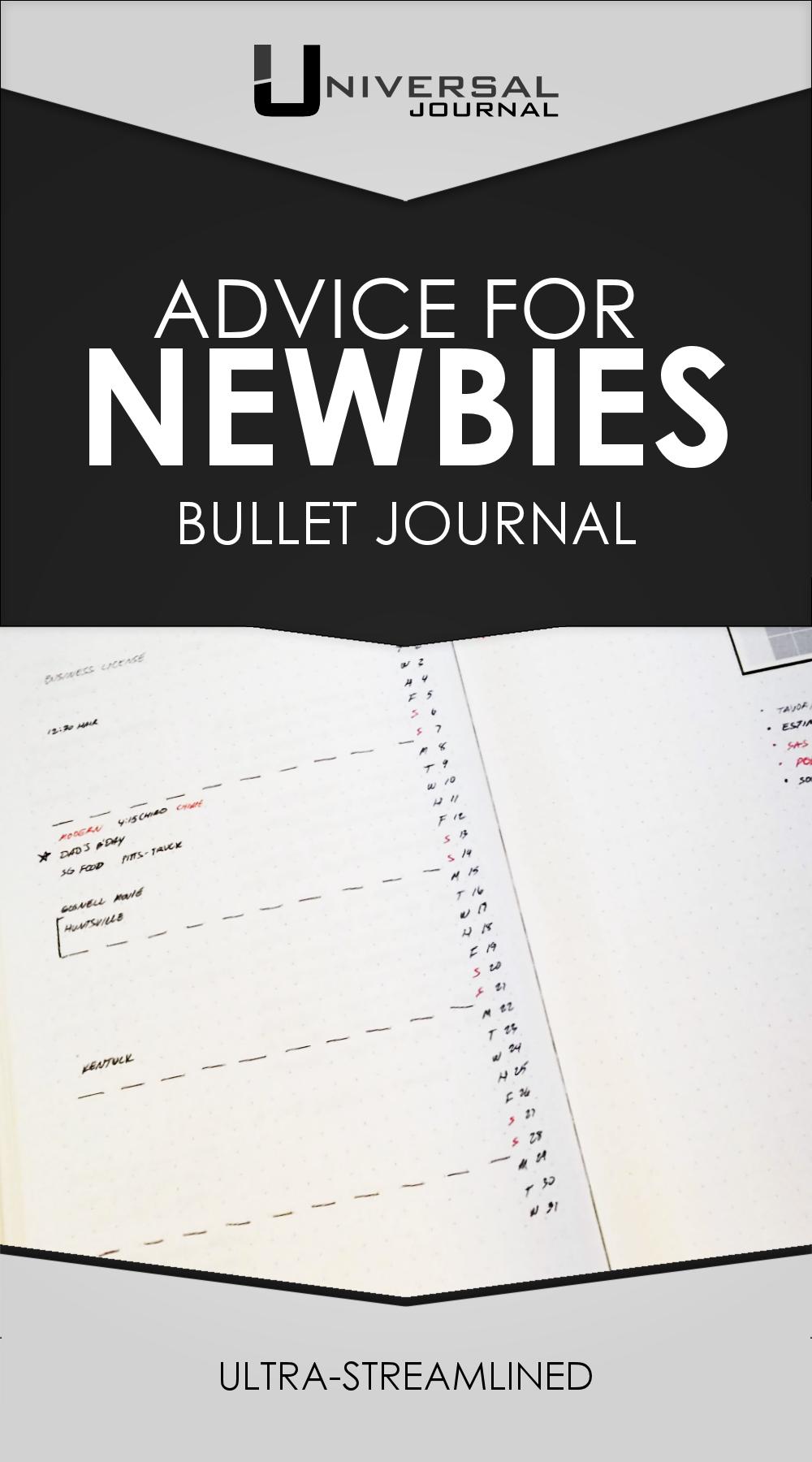 Universal Journal: Bullet Journal Advice for Newbies