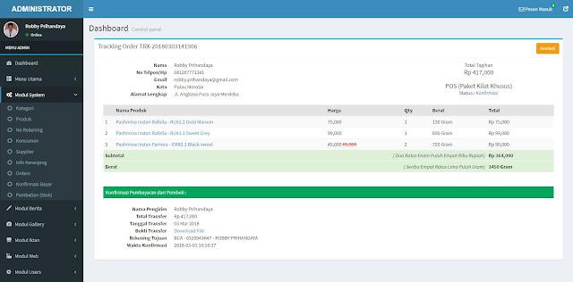 Toko Online Codeigniter (PHP 7) MySQL + Rajaongkir (POS, JNE, TIKI) + COD