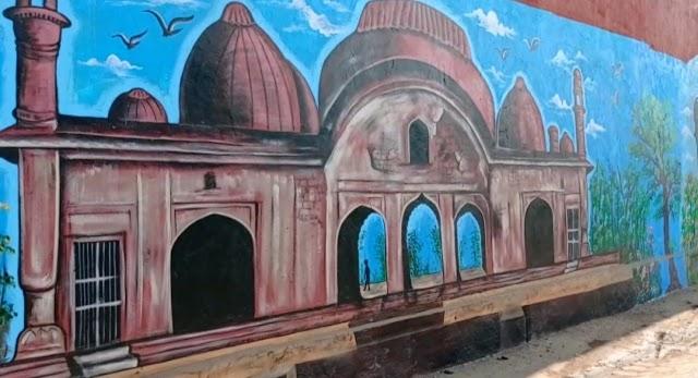 बुरहानपुर का भव्य इतिहास ऐतिहासिक परकोटे पर उकेरा, सिटी ऑफ वाल पर दिखेंगे ऐतिहासिक स्थल   Burhanpur ka bhavya itihas aitihasik parkote pr ukera