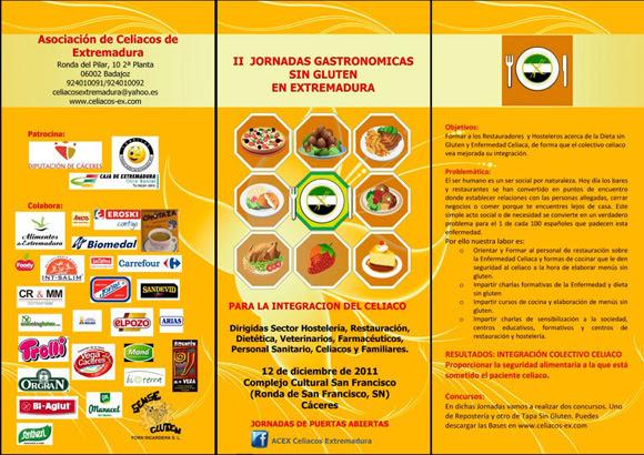 Jornadas gastronómicas sin gluten en Cáceres