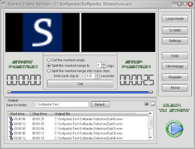 تحميل برنامج تقسيم ملفات الفيديو Speed Video Splitter 4.3