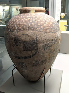 Naqada jar with sailing ship image