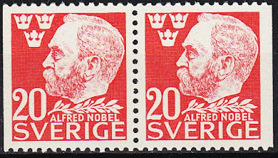 Sweden Booklet Stamps & Pair 50th Ann Death Alfred Nobel 1947