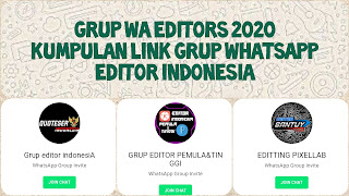Link grup whatsapp editors 2020