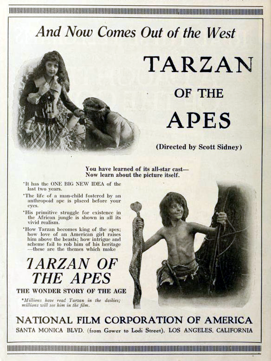 Tarzan of the Apes advertising 1918