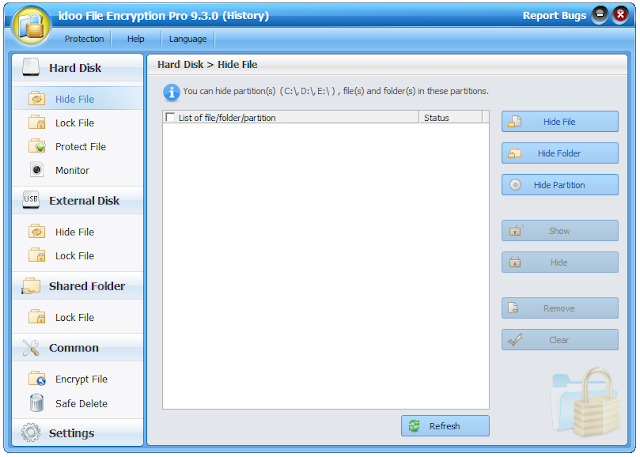 Screenshot idoo File Encryption Pro 9.3.0 Full Version