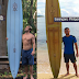 A lost surfboard from Hawaii surfer recovered 5,200 miles away after two years in the Philippines