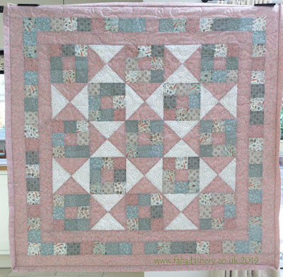 Rhoda's Down the Veggie Patch Baby Quilt with Bottom Line Thread