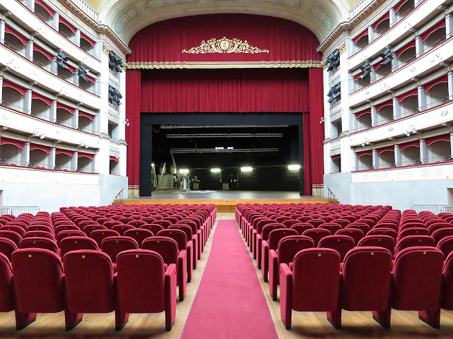 A view of the interior of the Teatro Goldoni, Livorno