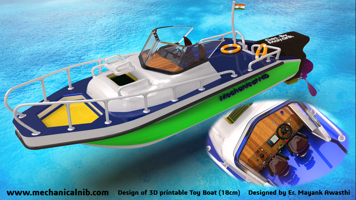 Design of a astonishing 3d printable Toy Boat by Mechanical Nib