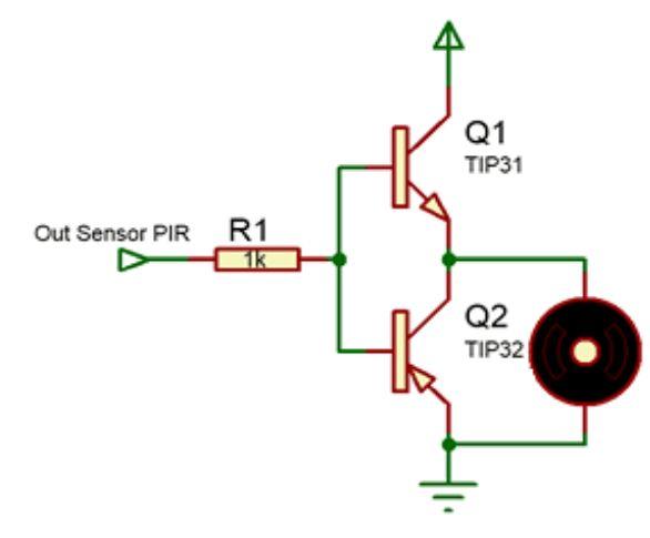 Implementasi Sensor PIR dengan motor DC