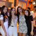 Geovana, Julia, Monalisa e Yasmin, no réveillon em Mairi