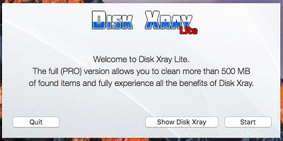 disk xray lite after opening