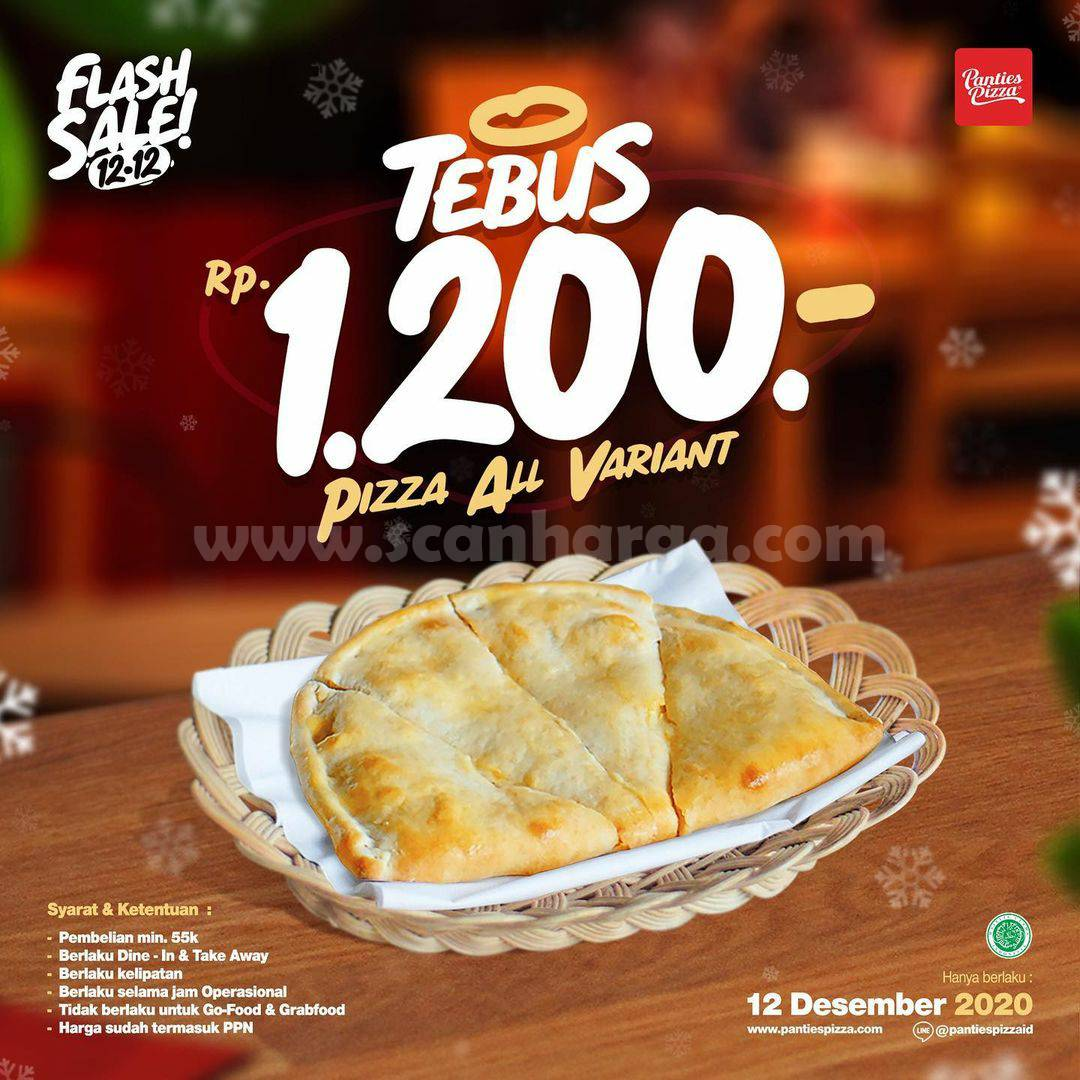 Promo Panties Pizza Flash Sale 12.12 – Tebus Semua Pizza cuma Rp 1.200,-