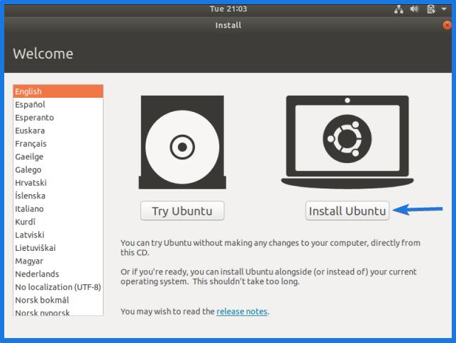 Virtualbox Ubuntu Installation