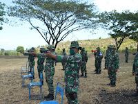 Adakan Latihan Menembak Jatri TW III 2020, Kodim 0802/Ponorogo Tetap Terapkan Disiplin Protokol Kesehatan