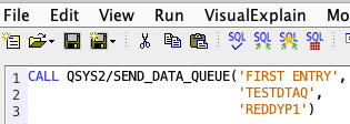 Send data to Data Queue in SQL