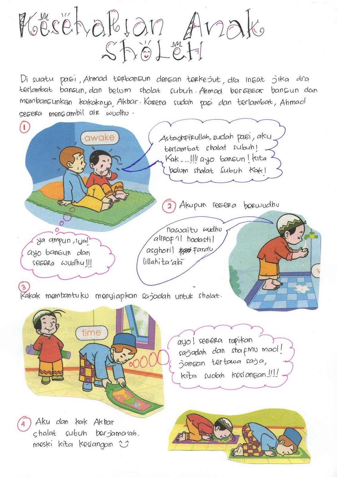 Download Gambar Sketsa Anak Sholehah Memberi Sedekah