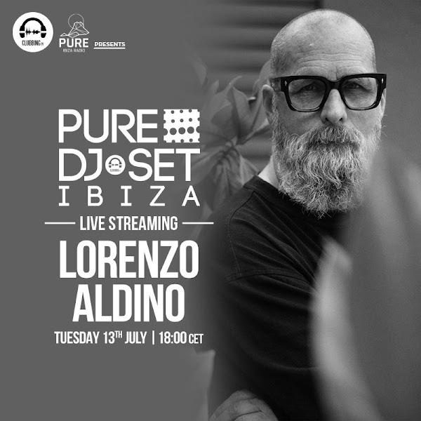 Lorenzo al Dino live streaming Pure DJ set Ibiza Clubbing TV