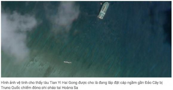 Trung Quốc đặt cáp ngầm quanh Hoàng Sa gần 2 tuần, vì mục đích quân sự  10:46 10/06/2020