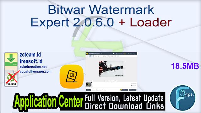 Bitwar Watermark Expert 2.0.6.0 + Loader
