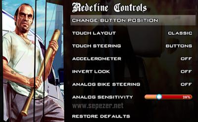 Cara setting GTA SA di Android