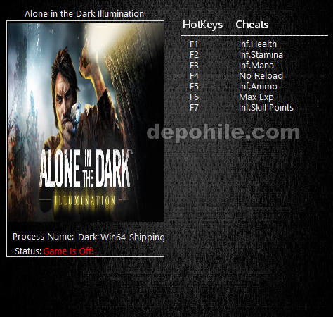 Alone in the Dark Illumination (PC) Can,Mermi +7 Trainer Hile İndir