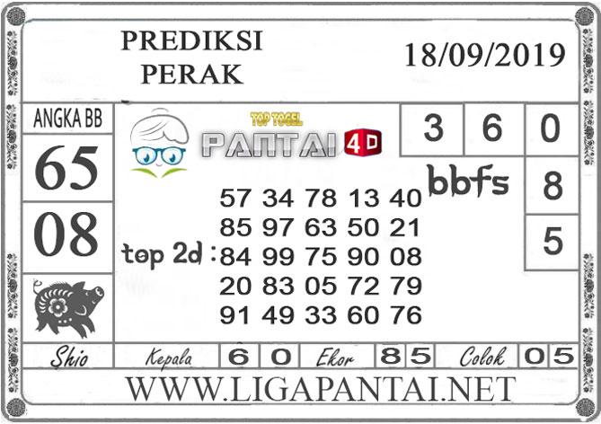 """PREDIKSI TOGEL """"PERAK"""" PANTAI4D 18 SEPTEMBER 2019"""