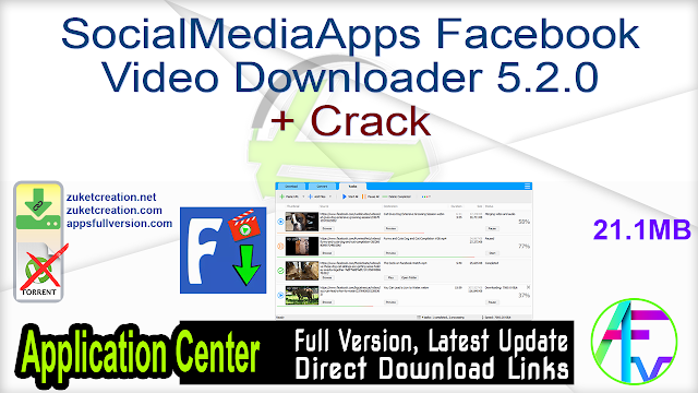 SocialMediaApps Facebook Video Downloader 5.2.0 + Crack