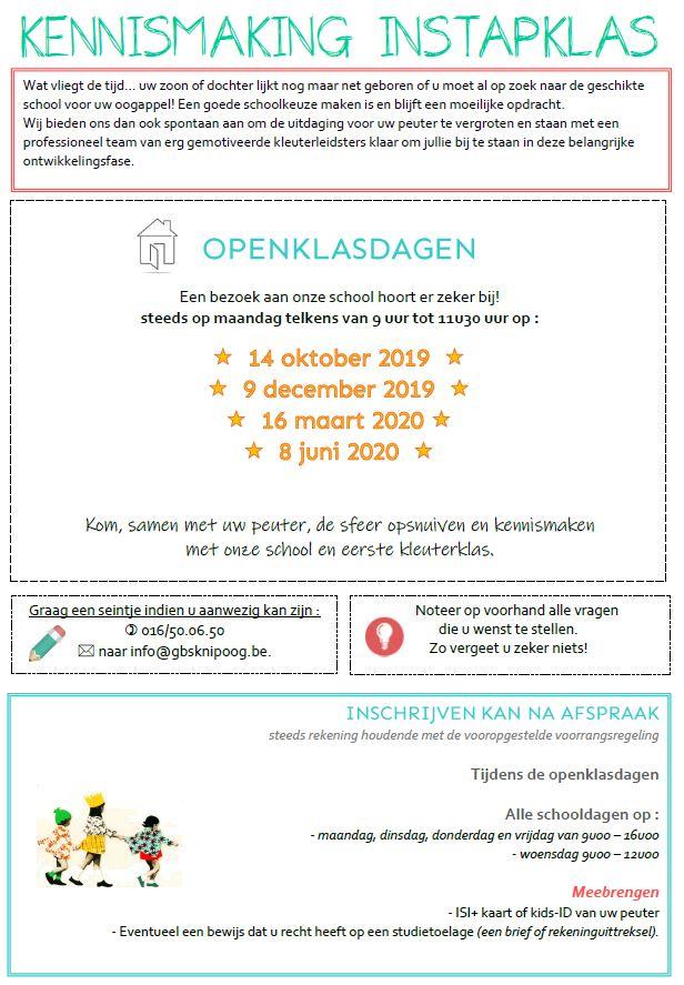 Openklasdagen 2019-2020