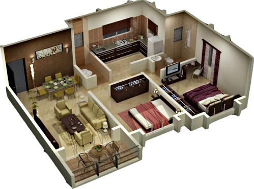 Desain Denah Rumah Minimalis Modern