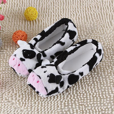 Cow Indoor Flannel Slippers