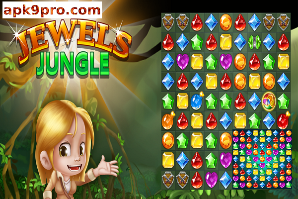 Jewels Jungle : Match 3 Puzzle v1.8.4 Apk + Mod (File size 39 MB) for android