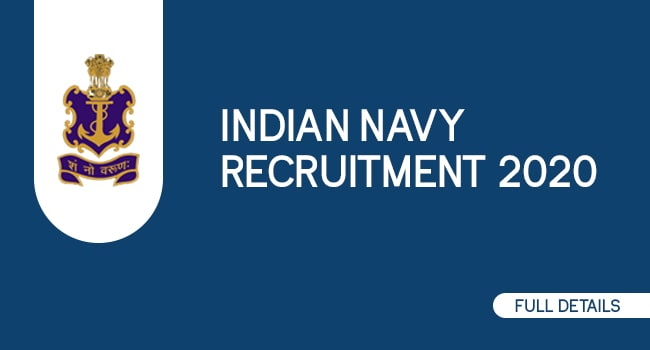 Indian Navy Recruitment 2020 - All Details About Navy Vacancy