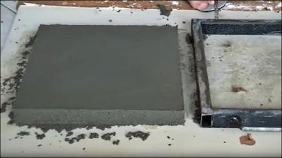 construção de lajota de concreto