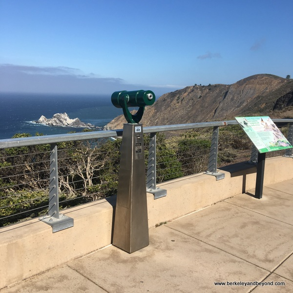 observation scope on Devil's Slide Trail in Pacifica, California