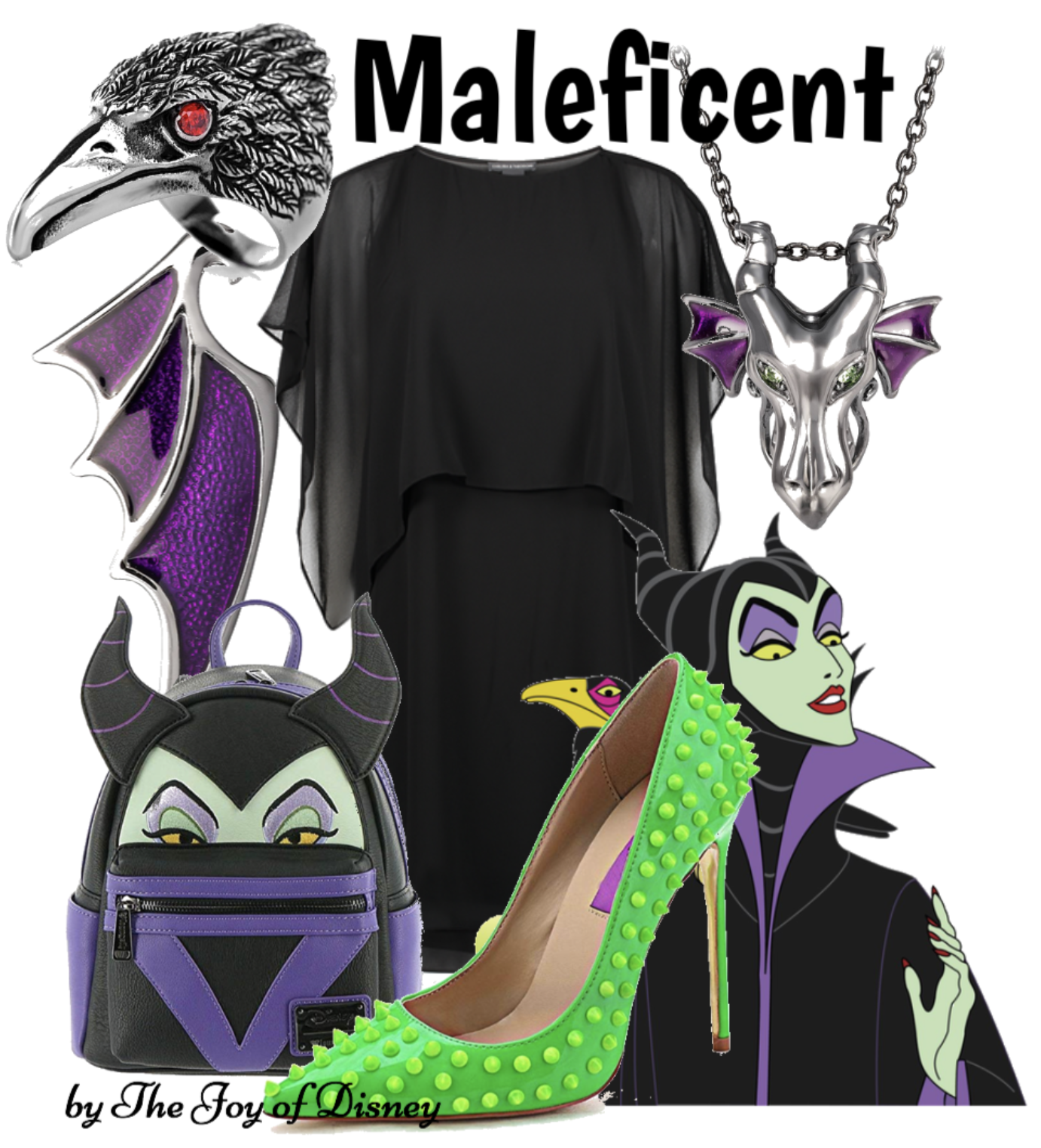 Outfit inspired by Maleficent from Sleeping Beauty