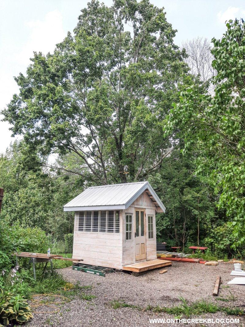 Greenhouse Tin Roof | On The Creek Blog // www.onthecreekblog.com