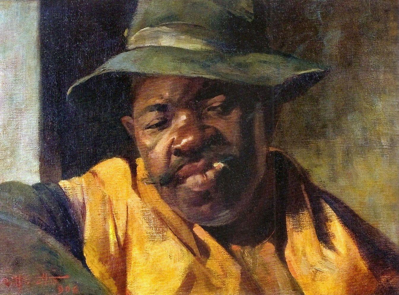Artur Timóteo da Costa - Retrato de Negro