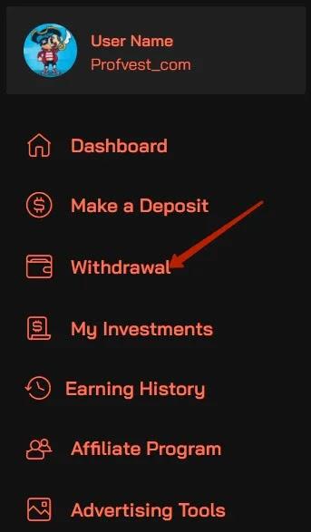 Вывод средств в OctoBit
