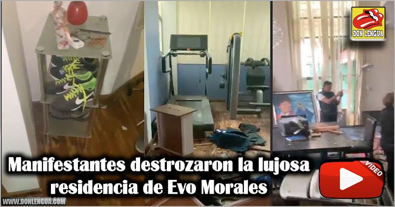 Manifestantes destrozaron la residencia de Evo Morales