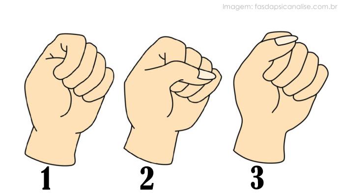 Teste de personalidade: Como você fecha sua mão?