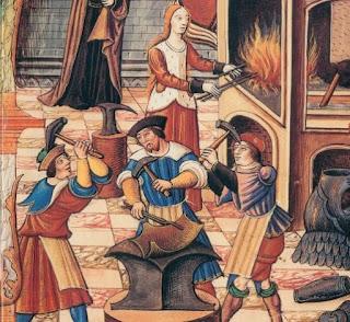 Imatge d'uns armers medievals. Font: http://sunimocholirosello.blogspot.com/2015/05/sastresartresartor-armeroarmer-armarius.html