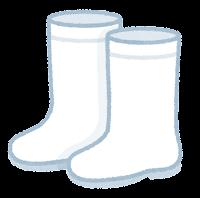 長靴のイラスト(白)