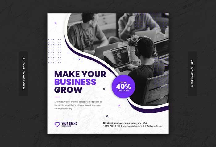 Digital Business Marketing PSD Flyer