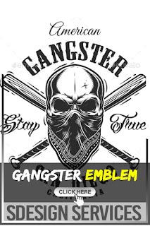 Gangster Emblem with Skull in Bandana - Portfólio de fotos e imagens stock - Gangster Skull