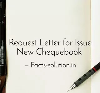 Sample Letter for Cheque Book Request?