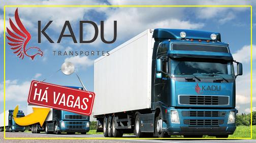 Kadu Transportes está contratando motorista Rodo-trem