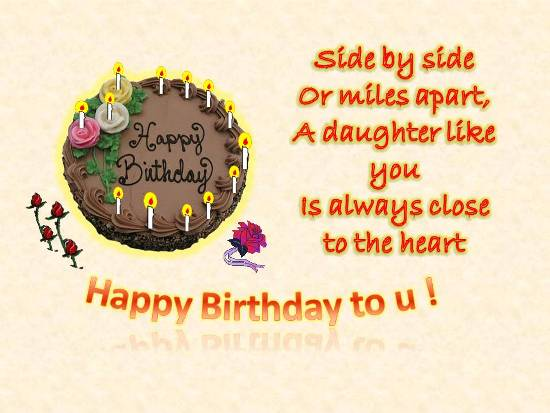 happy birthday for my dearest daughter from heart